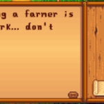 Stardew Valley message from Harvey