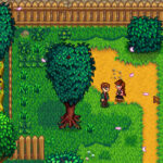 Stardew Valley talking with Harvey